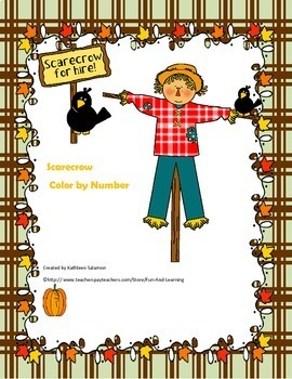 Scarecrow color by Number