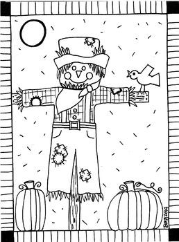 Scarecrow coloring sheet