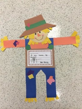 Scarecrow craft and writing activity