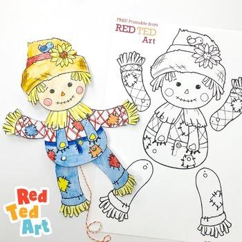 Scarecrow for Harvest Festivals - STEAM Craft Activity (Lesson Plan & Printable)