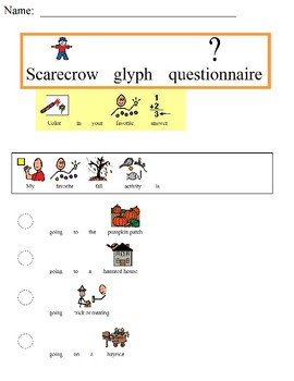 Scarecrow glyph for students with disabilites