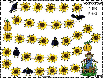 Scarecrow in the field ~ Counting On Numbers 1-120