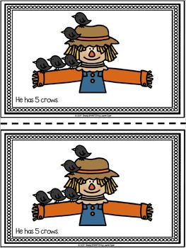 Scarecrow's Crows Emergent Reader Book AND Interactive Activities