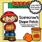 Scarecrow's Shape Patch:  LOW PREP Flat Shape Play Dough Activity