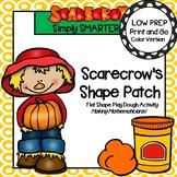 Scarecrow's Shape Patch:  LOW PREP Flat Shape Play Dough Activity