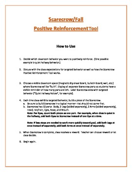 Scarecrow/Fall Positive Reinforcement Tool