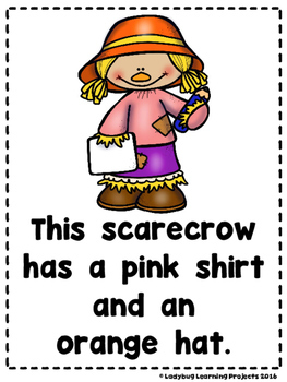 Scarecrows  (A Sight Word Emergent Reader and Teacher Lap Book)