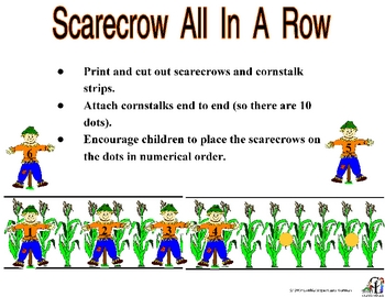 Scarecrows All in a Row