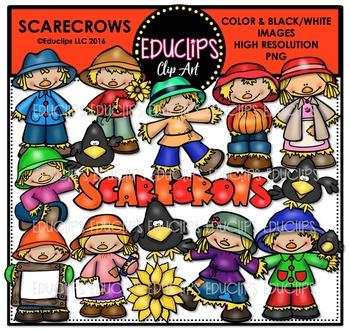 Scarecrows Clip Art Bundle  {Educlips Clipart}