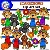 Scarecrows Clip Art Set - Doodle Patch Designs