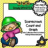 Scarecrows Count and Graph:  NO PREP Data Collection Activities