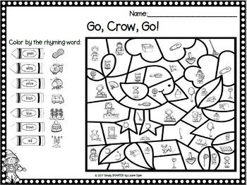 Scarecrows Do Word Work:  NO PREP Scarecrow Themed Phonics Color By The Code