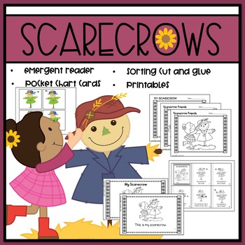 Scarecrows Emergent Reader and Mini Literacy Set