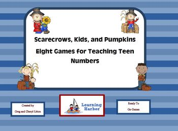 Scarecrows, Kids, and Pumpkins   Eight Games for Teen Numbers