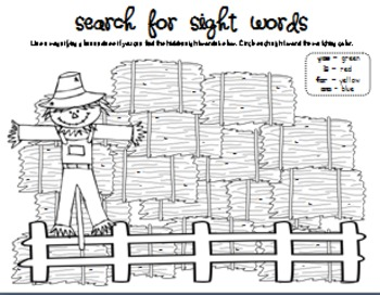 Scarecrows Literacy and Math Activities