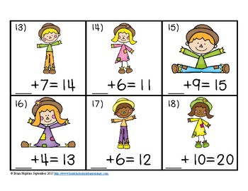 Scarecrows Missing Number Equations Task Cards