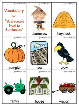 Scarecrows Next to Sunflowers:  An Interactive Rhyming Book