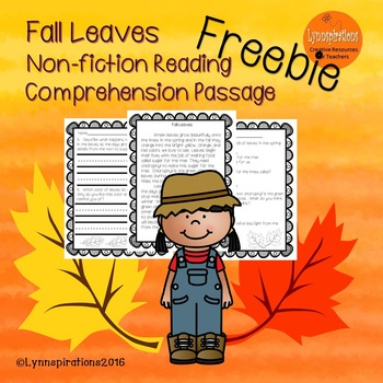 Fall Leaves- A Free Non-fiction Reading Comprehension