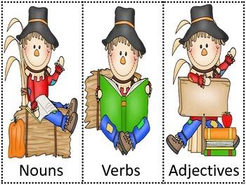Scarecrow Nouns, Verbs, Adjectives