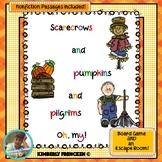 Scarecrows, Pilgrims, & Pumpkins: NonFiction Passages,Board Game, & Escape Room!