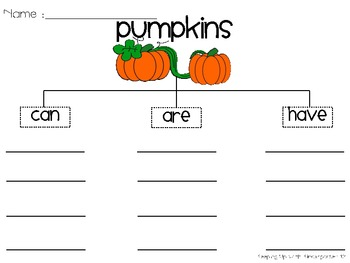 Scarecrows, Pumpkins, and Spiders...Oh My!l {Tree Charts and Circle Maps}