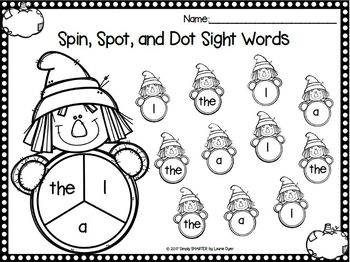 Scarecrows Spot Sight Words NO