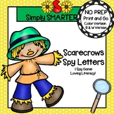 Scarecrows Spy Letters:  NO PREP Uppercase Letters I Spy Game