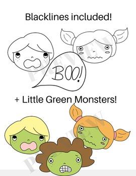 Scared  Faces (Kids Clipart) >~~~(O.o)~~~~