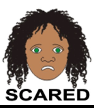 Scared - One of 9 Faces of Emotions for Emotional Intelligence (EQ) Curriculum