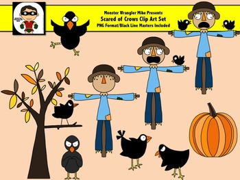 Scared of Crows Clip Art Set