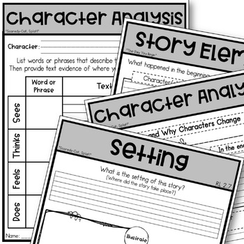 Scaredy Cat Splat Guided Reading Character Analysis