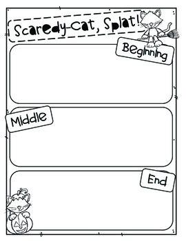 Scaredy-Cat, Splat!  Reading Comprehension Craftivity