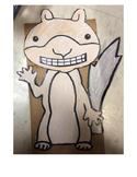 Scaredy Squirrel Printable Puppet Craft
