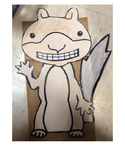 Scaredy Squirrel Printable Puppet Craft
