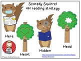 Scaredy Squirrel 4H reading strategy posters, bookmarks and question sort