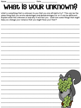 Scaredy Squirrel - Back to School- Language Arts Pack