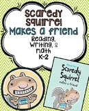Scaredy Squirrel Comprehension, Write the room, and Math activities