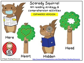 Scaredy Squirrel Higher order thinking reading comprehension activities