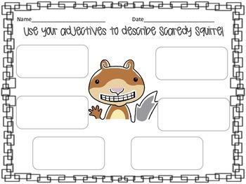 Scaredy Squirrel Printables
