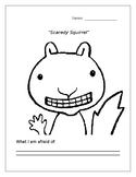 """""""Scaredy Squirrel"""" Worksheet"""