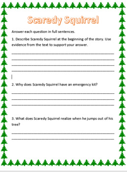 Scaredy Squirrel Worksheets