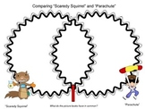 """""""Scaredy Squirrel"""" and """"Parachute"""" compare and contrast freebie"""