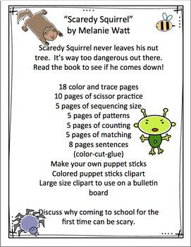 Scaredy Squirrel by Melanie Watt Book Unit