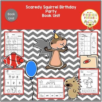 Scaredy Squirrel has a Birthday Party Book Unit