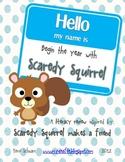 Scaredy Squirrel makes a friend: back to school graphic organizers