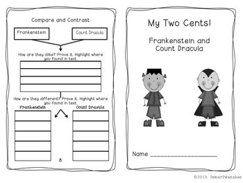 Scariest of the Monster World- Frankenstein and Count Dracula