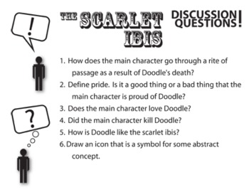 The Scarlet Ibis Pop Quiz & Discussion Questions (by James Hurst)