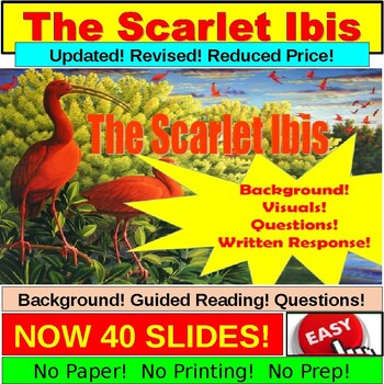 Scarlet Ibis Short Story Lesson Power Point