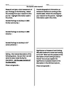 Scarlet Letter Analytical Journal