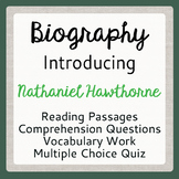 Scarlet Letter Author Nathaniel Hawthorne Informational Texts Activities